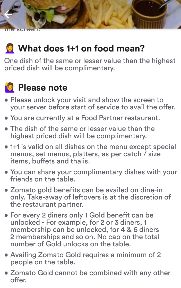 zomato Gold membership rules